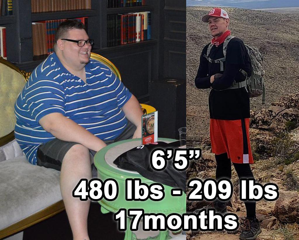 6 foot 5 Male 271 lbs Weight Loss 480 lbs to 209 lbs