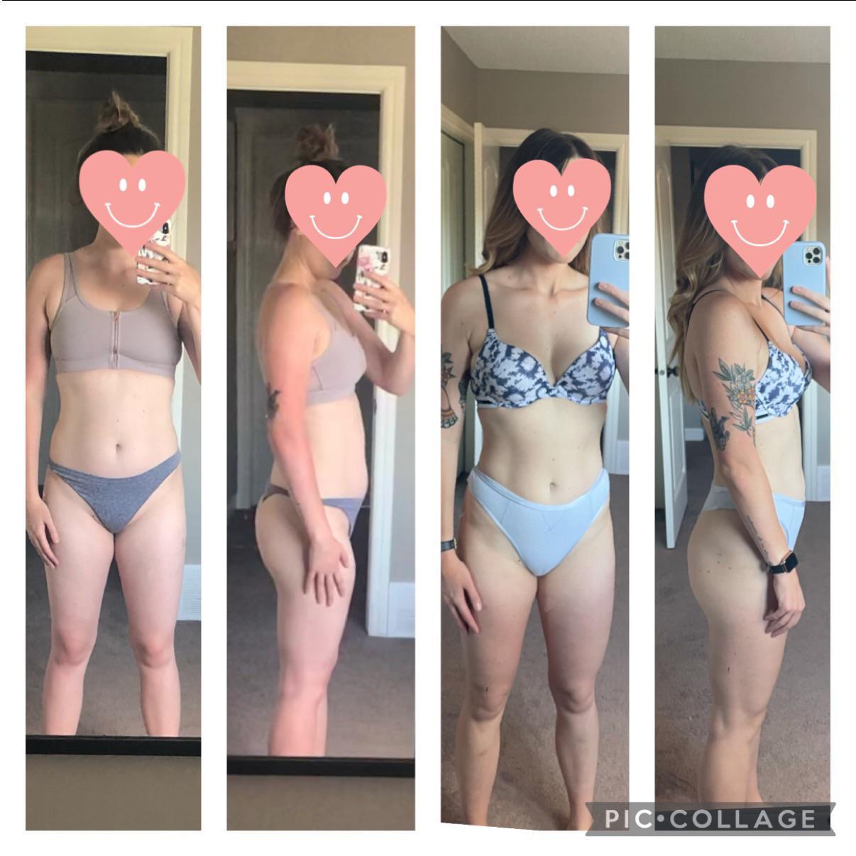 Progress Pics of 16 lbs Fat Loss 5'8 Female 151 lbs to 135 lbs