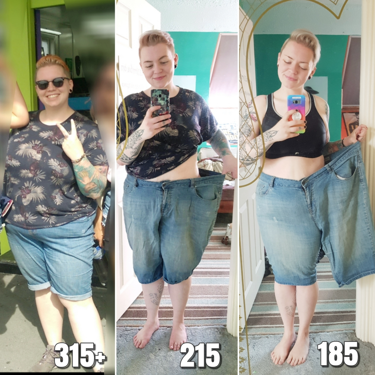 5 feet 6 Female 130 lbs Weight Loss 315 lbs to 185 lbs