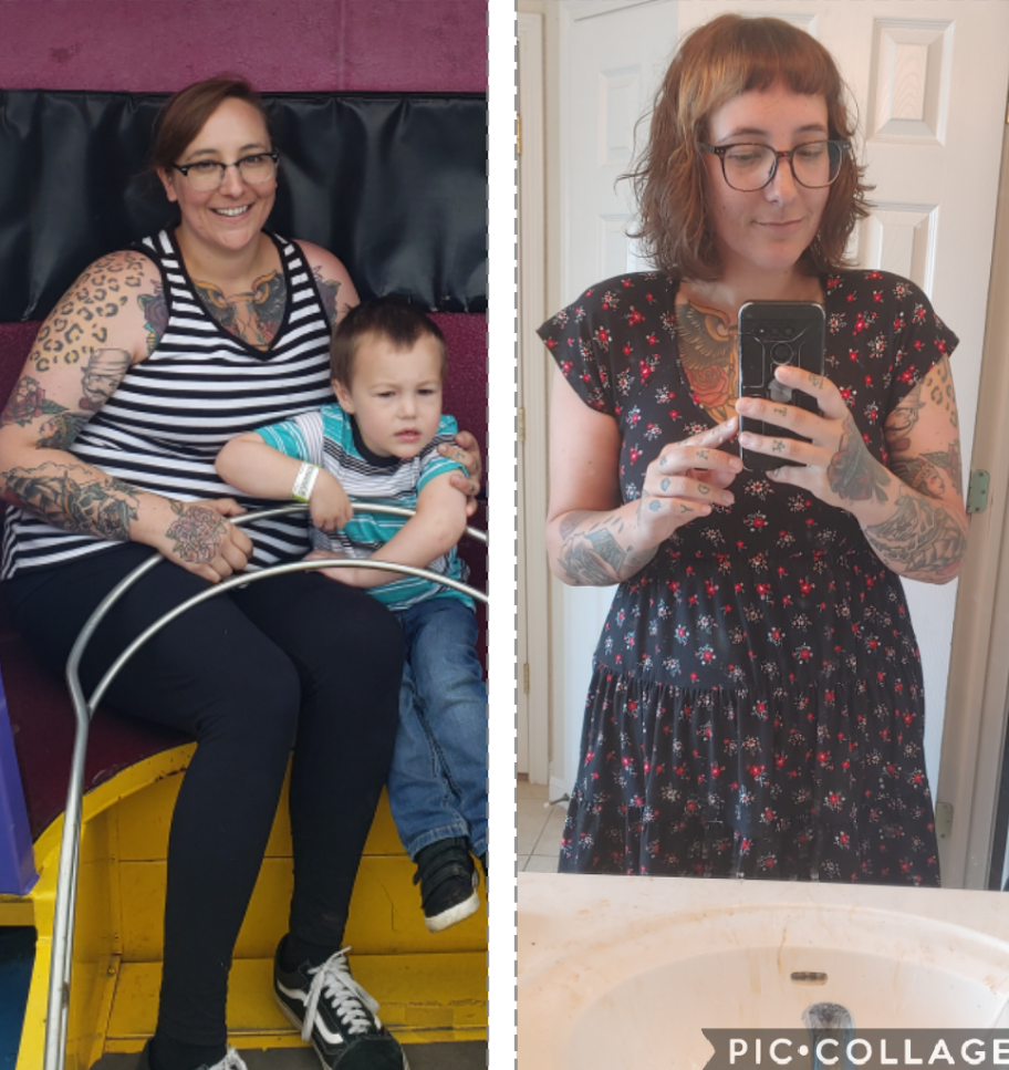 54 lbs Weight Loss 5'7 Female 230 lbs to 176 lbs
