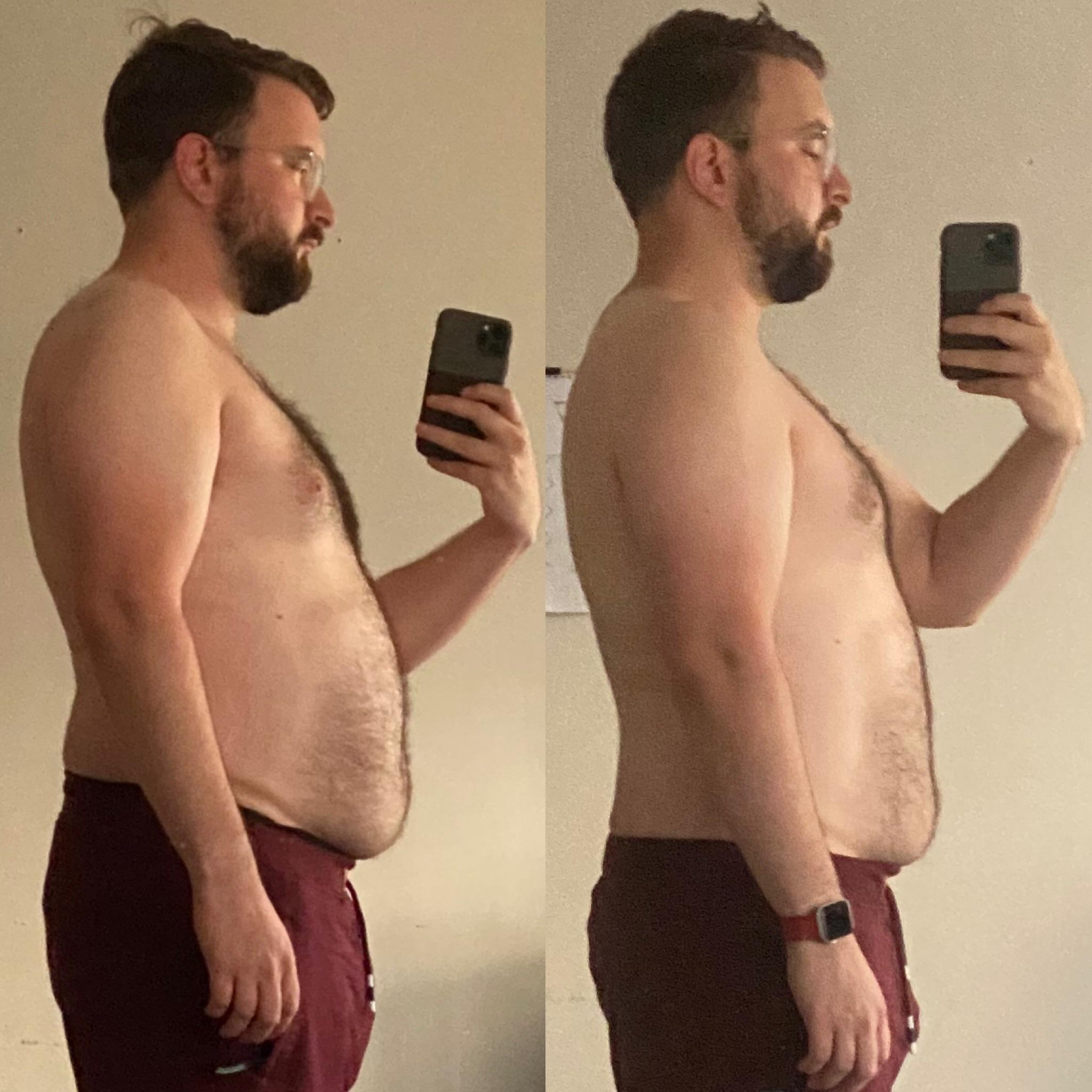 7 lbs Fat Loss Before and After 5 feet 9 Male 209 lbs to 202 lbs