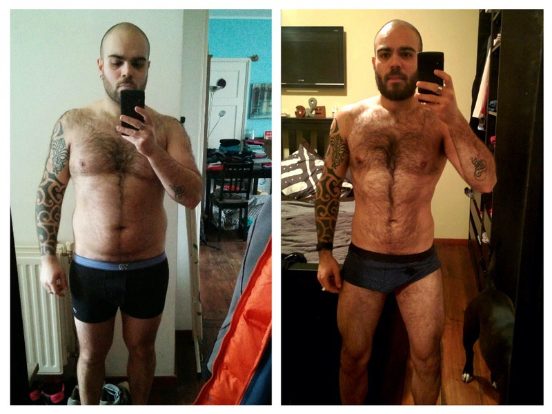 50 lbs Fat Loss Before and After 5 foot 6 Male 200 lbs to 150 lbs