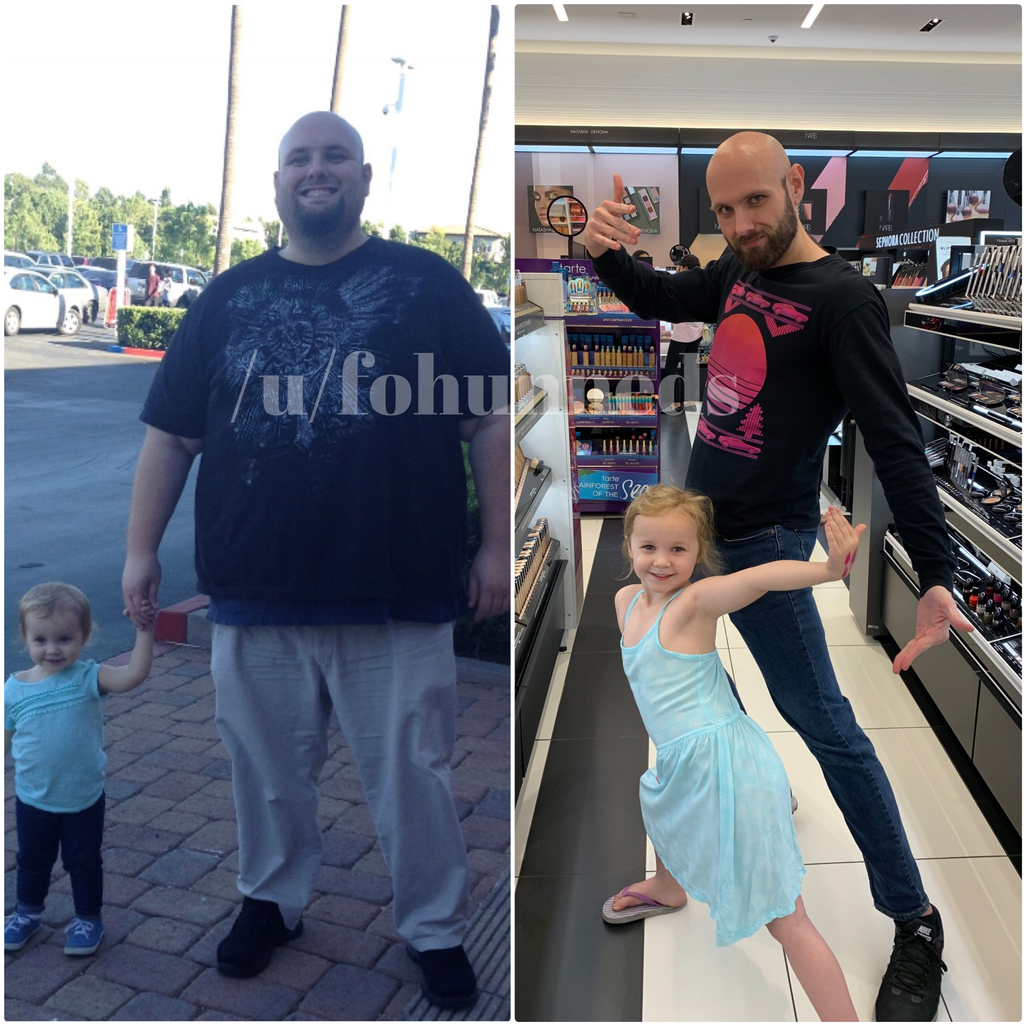 Before and After 200 lbs Fat Loss 5 feet 11 Male 380 lbs to 180 lbs