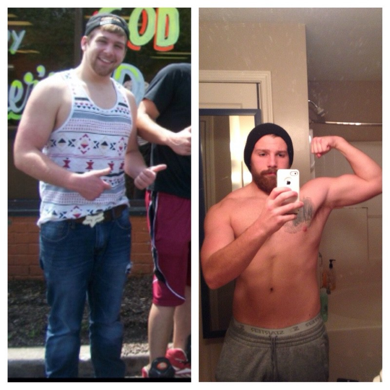 40 lbs Weight Loss Before and After 6 foot Male 220 lbs to 180 lbs