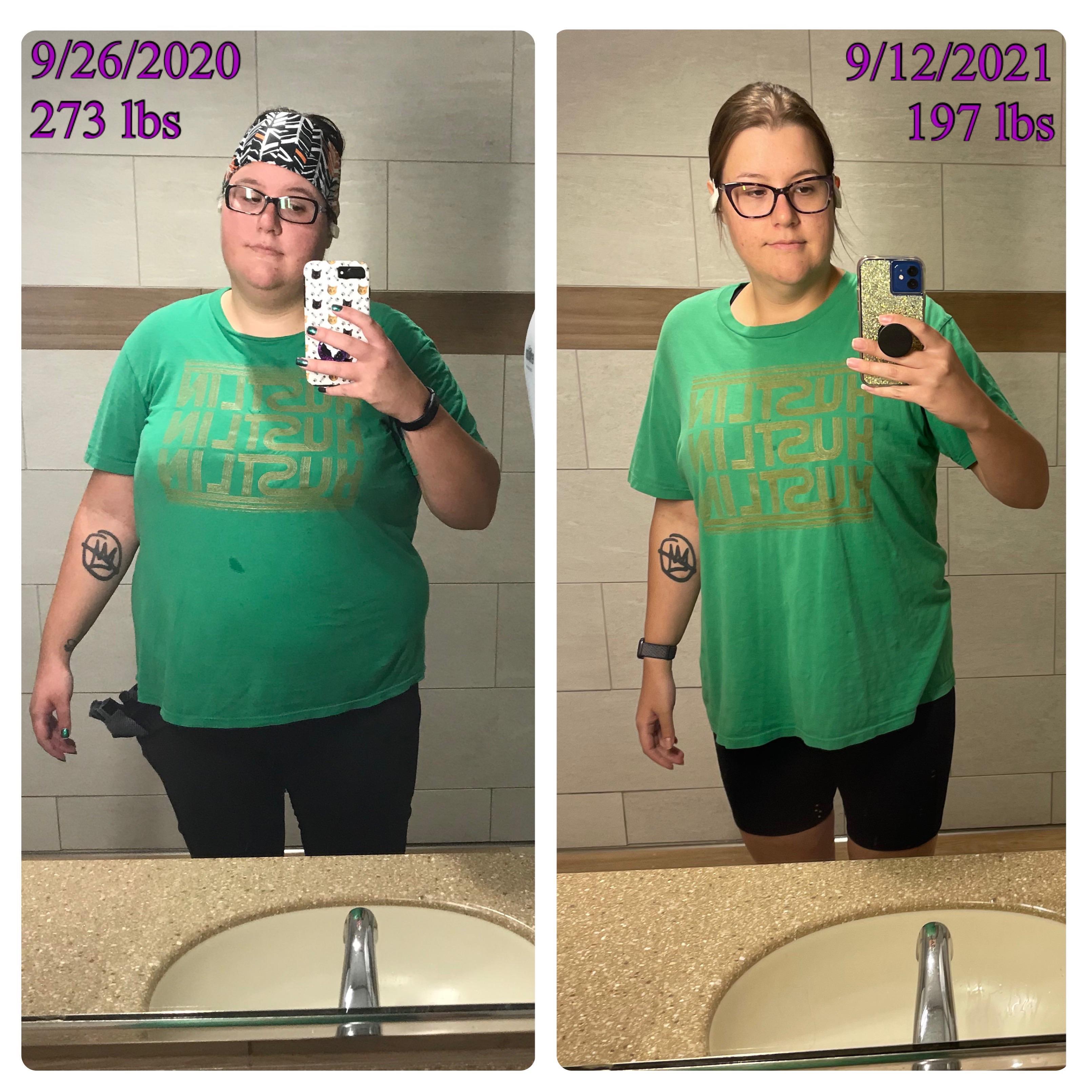 5 feet 11 Female Progress Pics of 93 lbs Fat Loss 290 lbs to 197 lbs