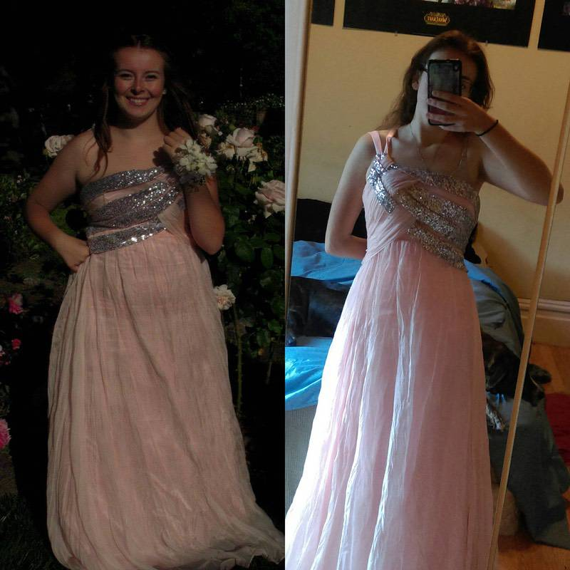 5 foot 5 Female 40 lbs Fat Loss Before and After 175 lbs to 135 lbs