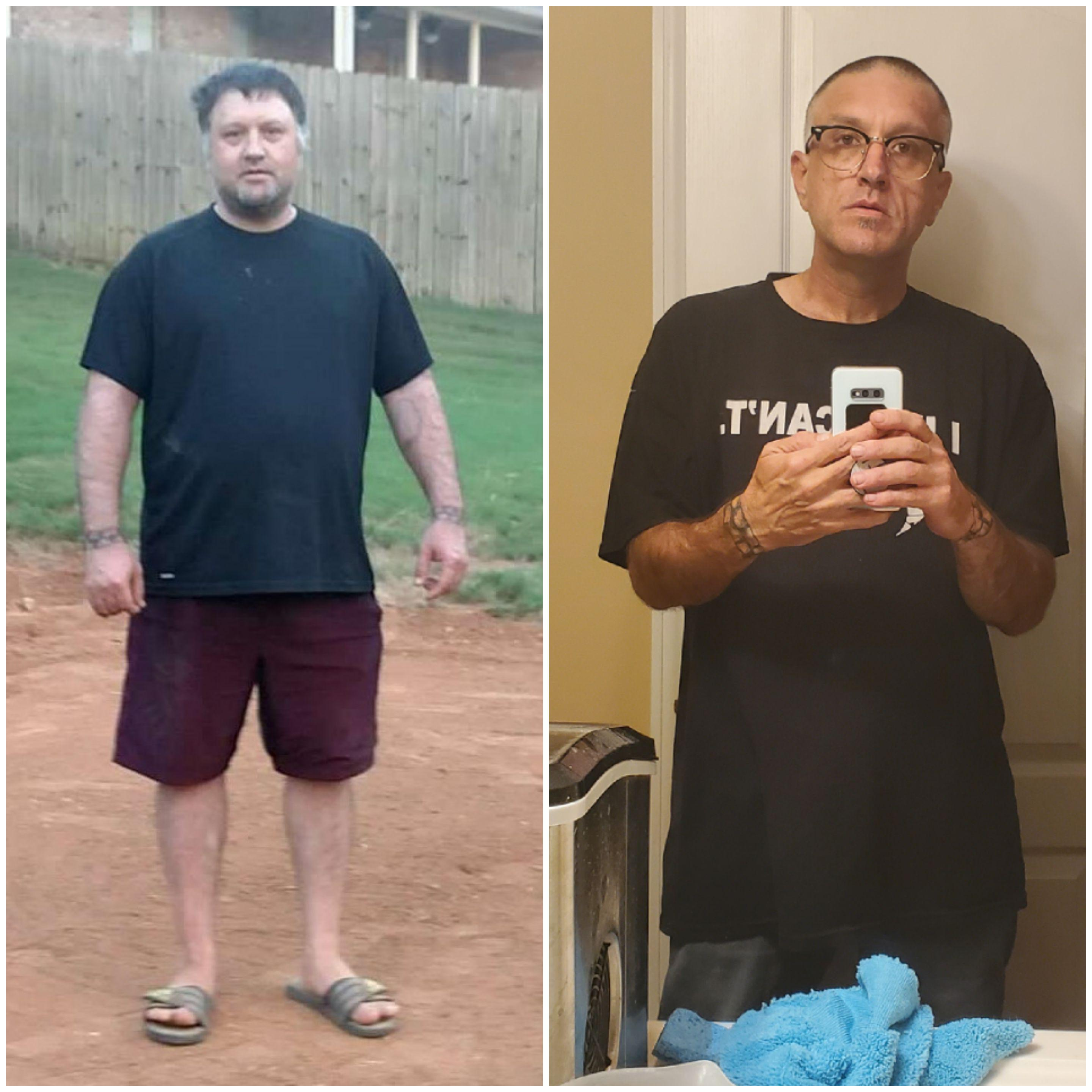 5 feet 9 Male 100 lbs Fat Loss Before and After 260 lbs to 160 lbs
