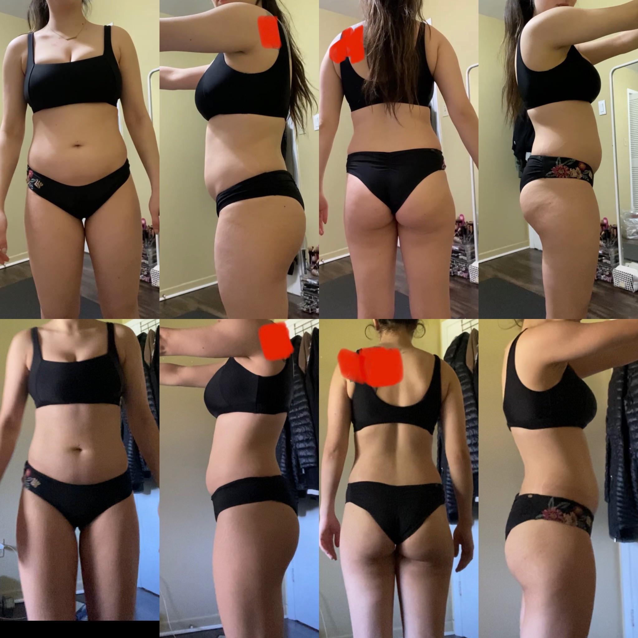 5'4 Female Progress Pics of 11 lbs Weight Loss 133 lbs to 122 lbs