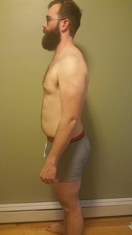 3 Pictures of a 239 lbs 6'4 Male Weight Snapshot