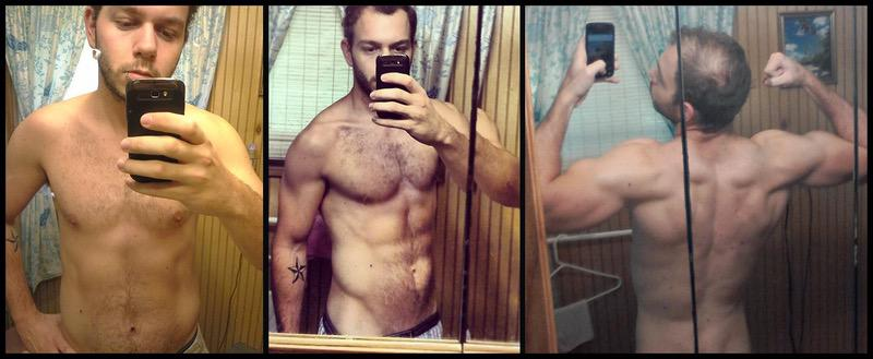13 lbs Fat Loss Before and After 5 feet 9 Male 165 lbs to 152 lbs