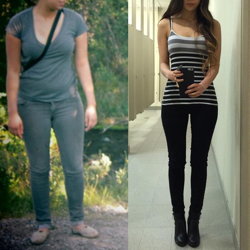 Progress Pics of 32 lbs Fat Loss 5'5 Female 142 lbs to 110 lbs