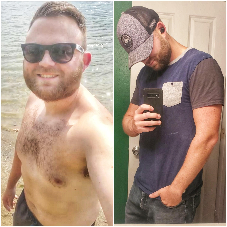 40 lbs Fat Loss 6 foot Male 220 lbs to 180 lbs