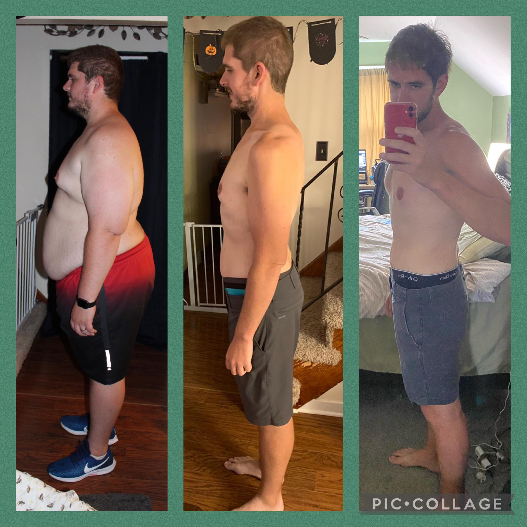 6 feet 1 Male 190 lbs Weight Loss Before and After 378 lbs to 188 lbs