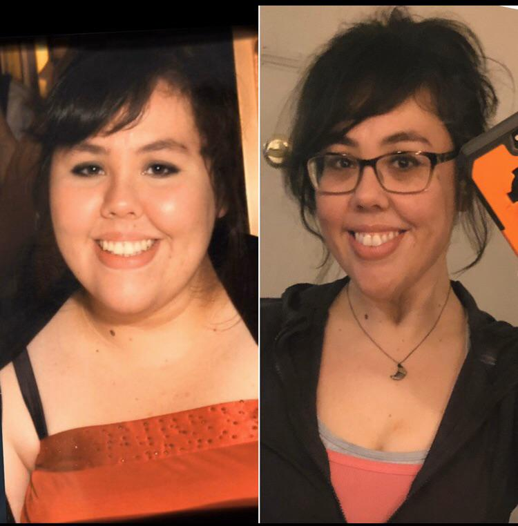 5'6 Female 98 lbs Fat Loss Before and After 295 lbs to 197 lbs