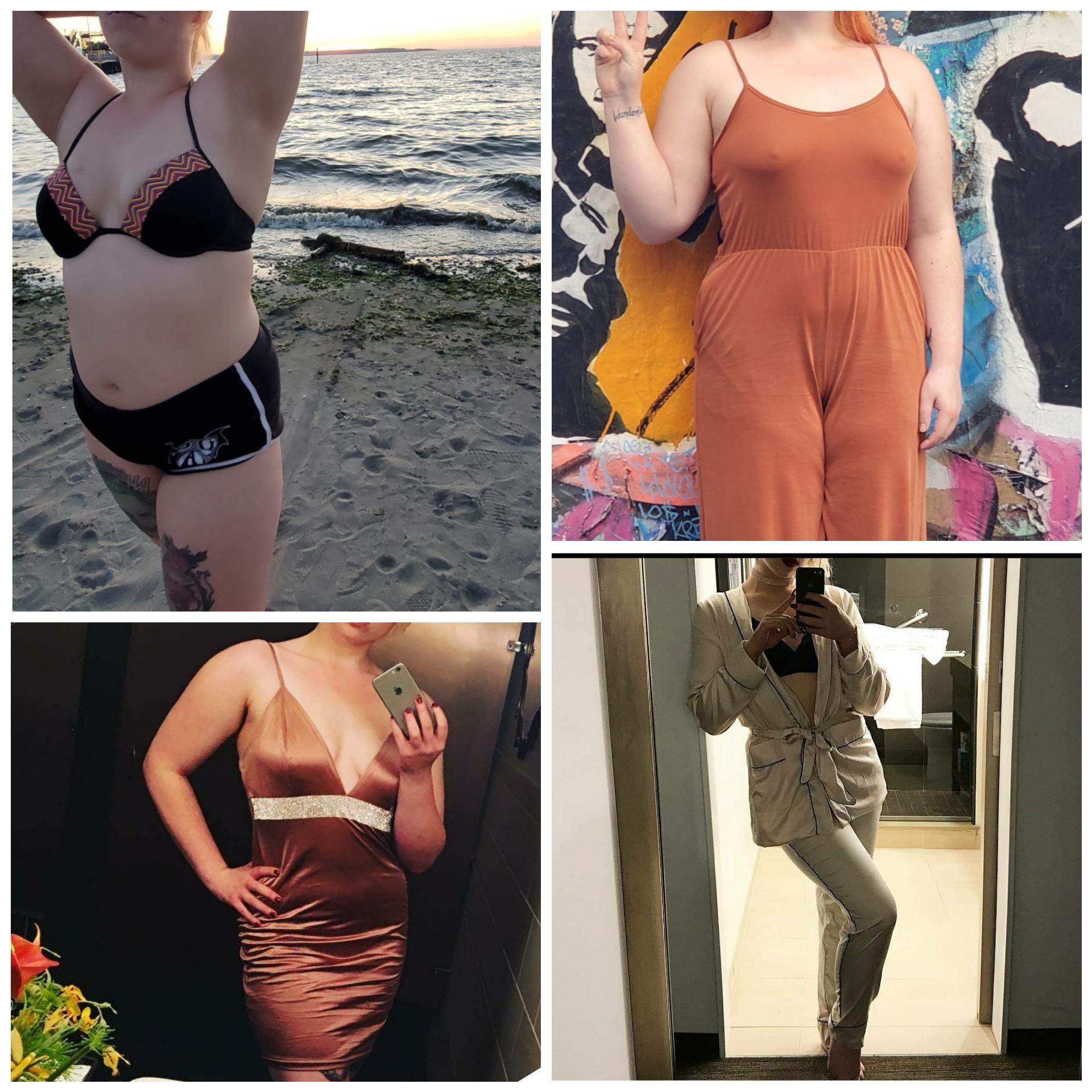 5 foot 5 Female Progress Pics of 50 lbs Fat Loss 200 lbs to 150 lbs