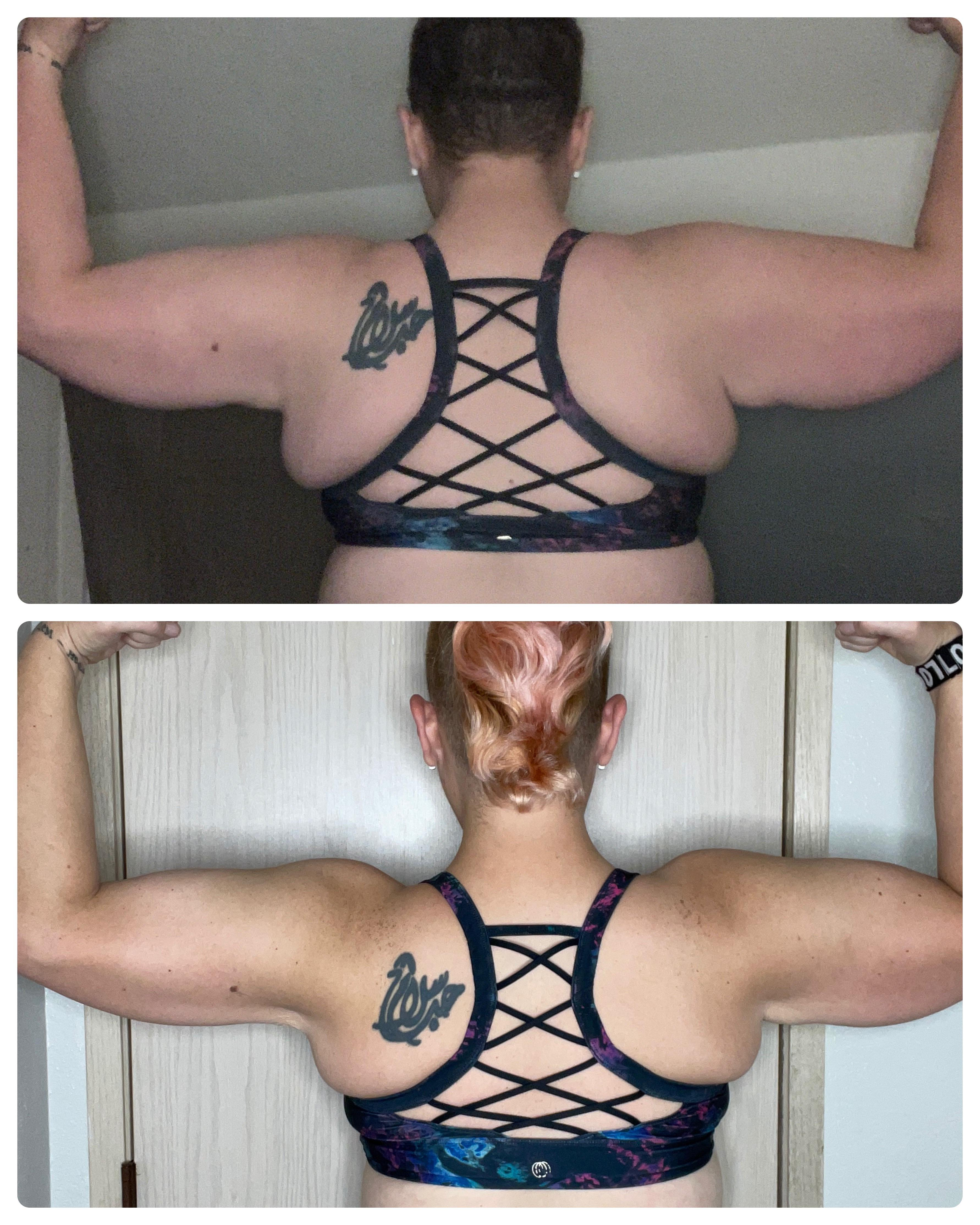 5'7 Female 35 lbs Fat Loss Before and After 225 lbs to 190 lbs