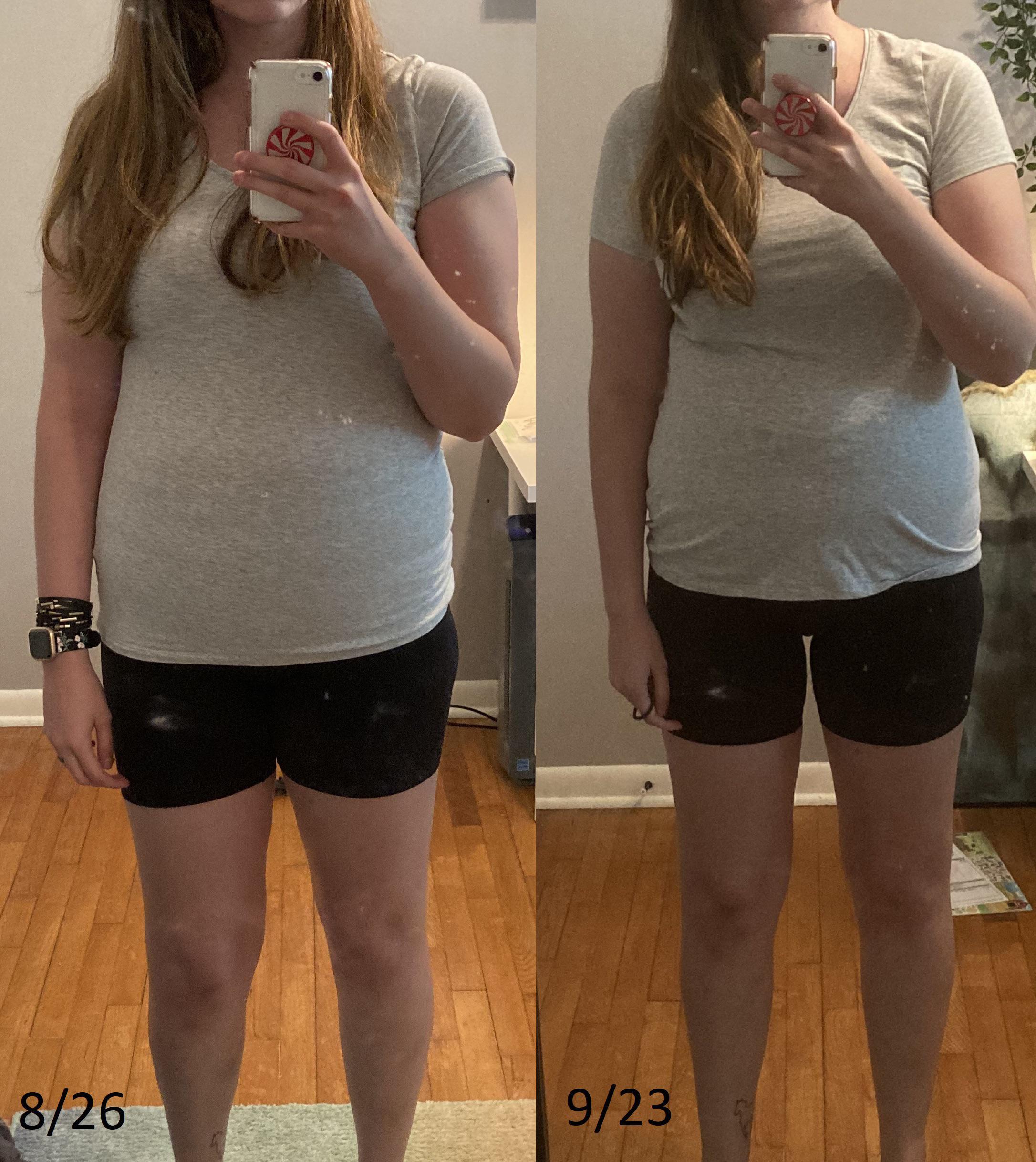 Progress Pics of 9 lbs Fat Loss 5 feet 10 Female 185 lbs to 176 lbs