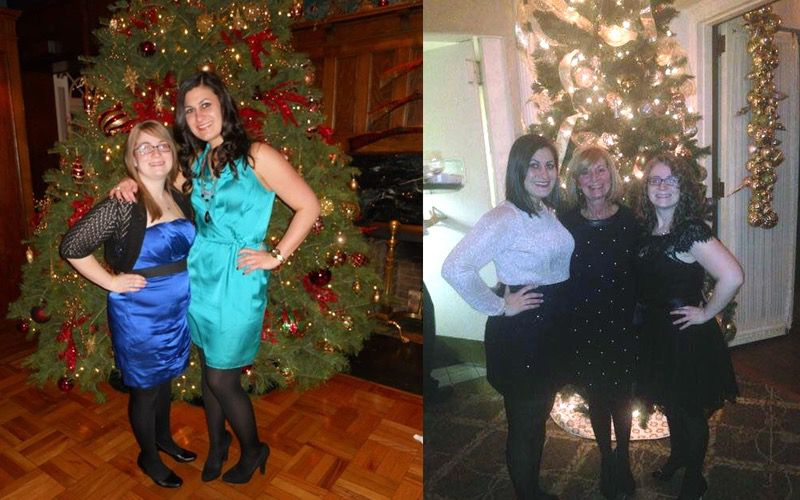 Before and After 30 lbs Weight Loss 4'11 Female 165 lbs to 135 lbs
