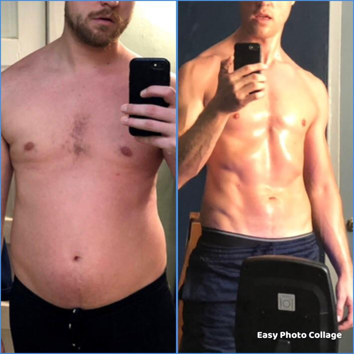 Progress Pics of 40 lbs Weight Loss 6'2 Male 215 lbs to 175 lbs