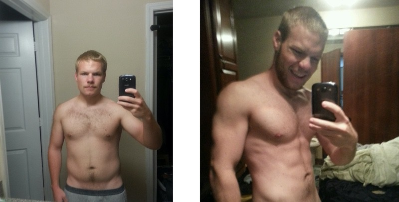 17 lbs Weight Loss Before and After 5 foot 5 Male 175 lbs to 158 lbs