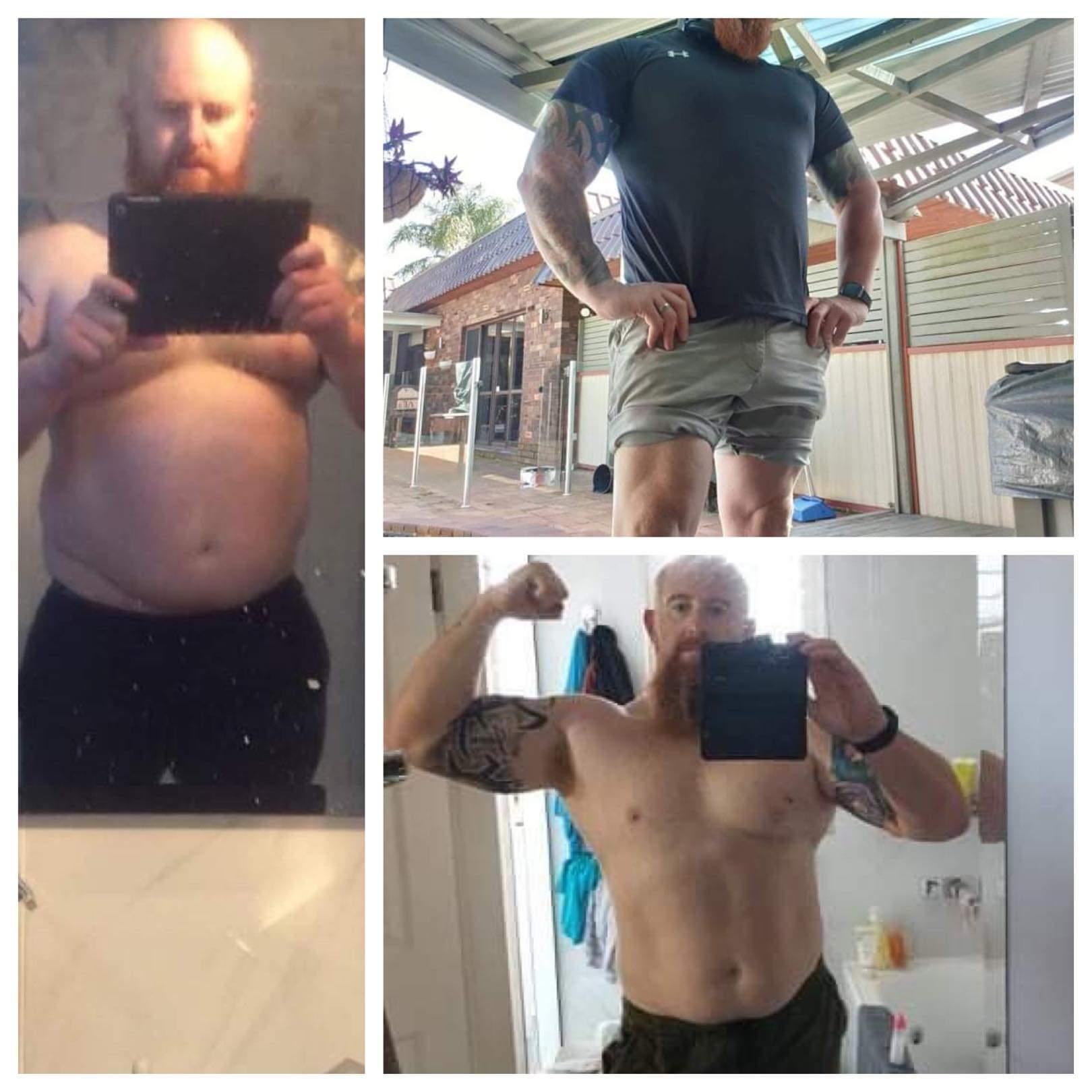 65 lbs Fat Loss 6 feet 1 Male 330 lbs to 265 lbs