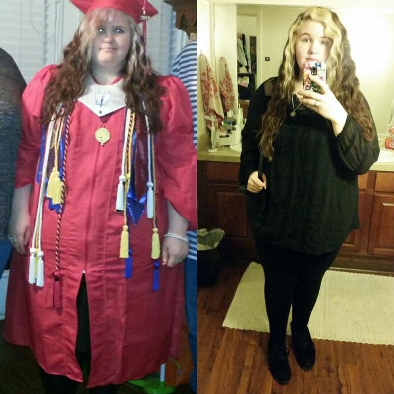 5 feet 3 Female Progress Pics of 104 lbs Fat Loss 365 lbs to 261 lbs
