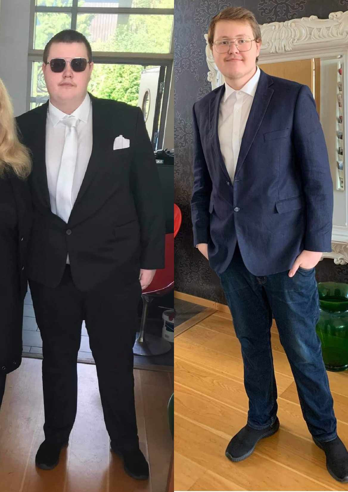100 lbs Fat Loss Before and After 6'4 Male 330 lbs to 230 lbs