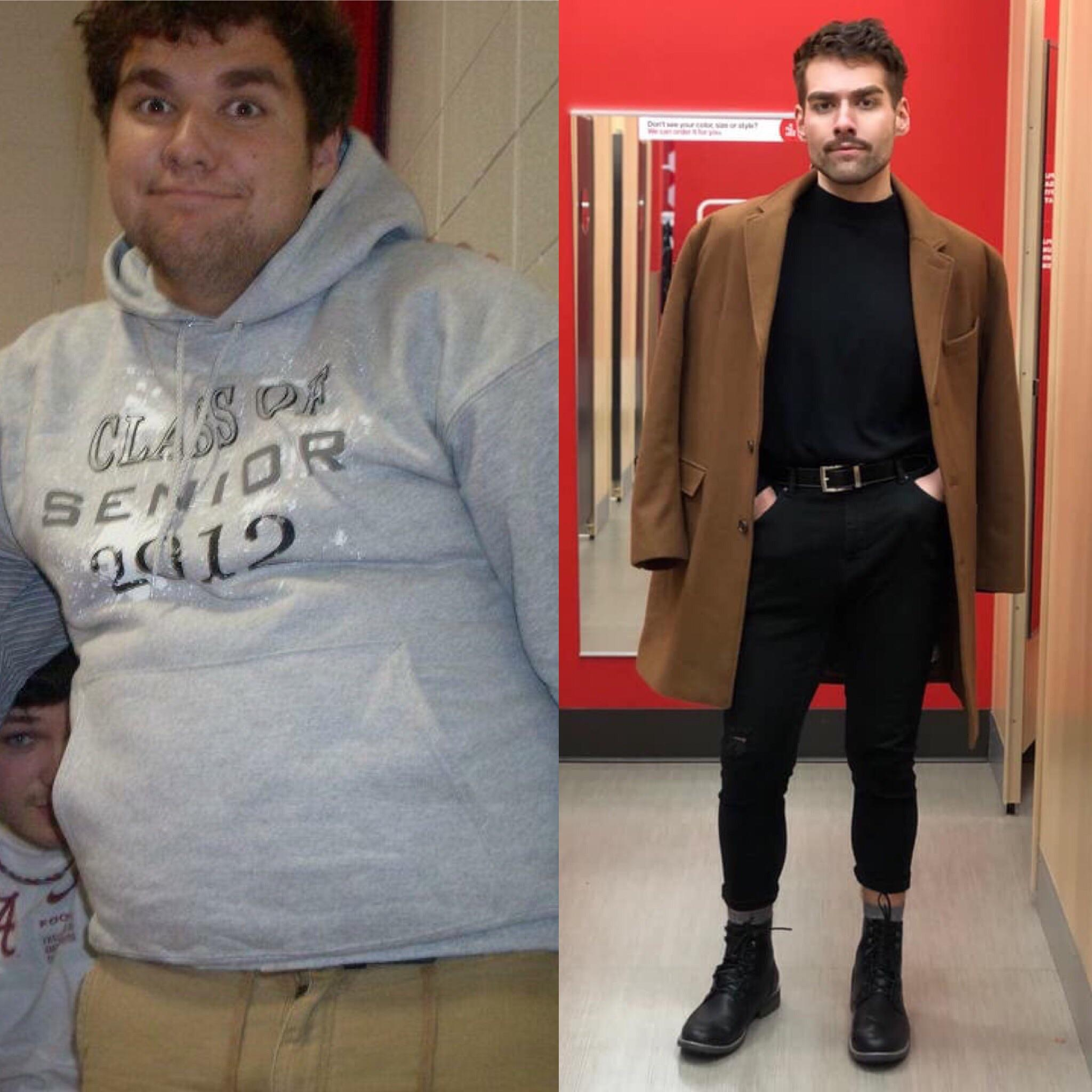 6 foot Male 110 lbs Fat Loss Before and After 285 lbs to 175 lbs