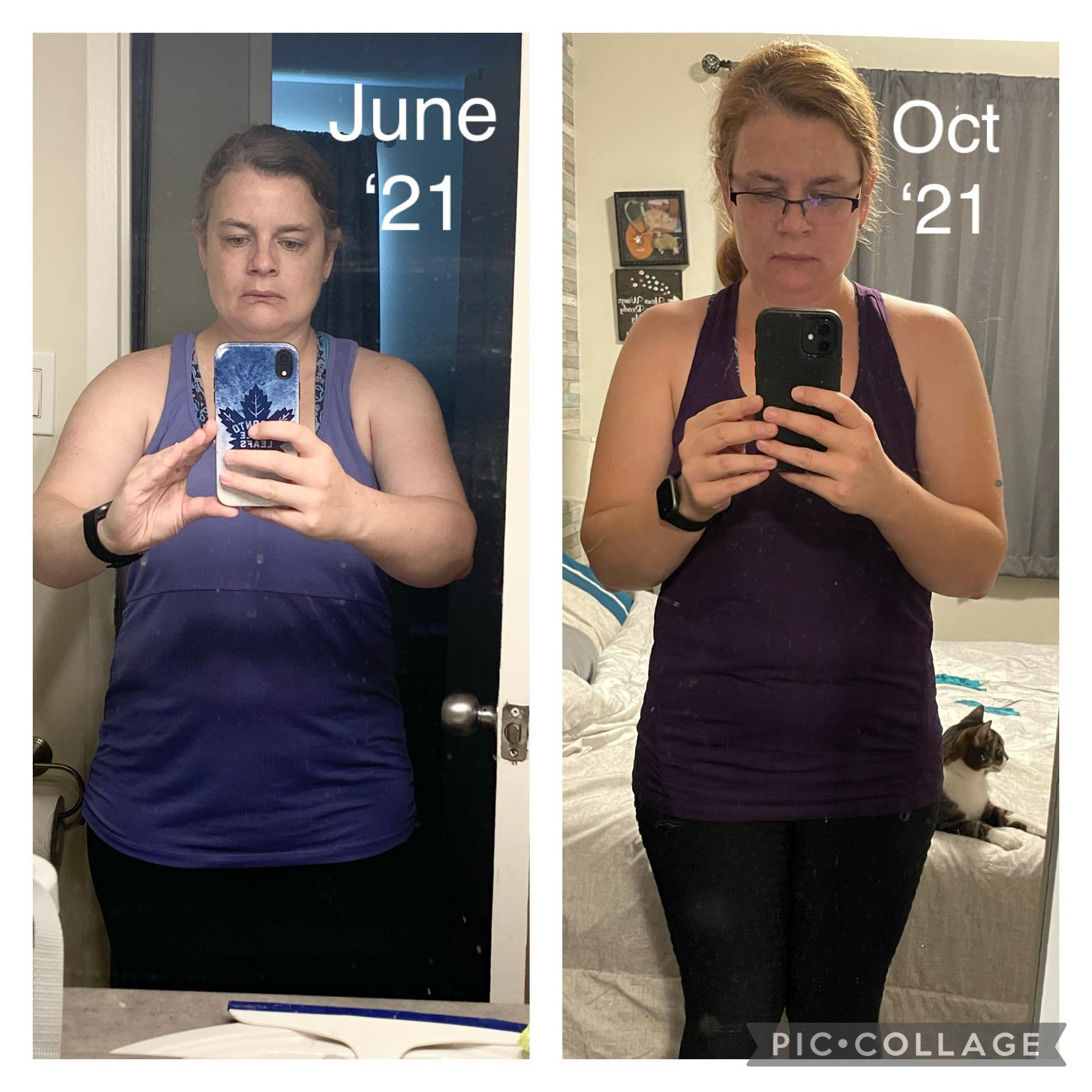 5 feet 3 Female Before and After 12 lbs Weight Loss 178 lbs to 166 lbs