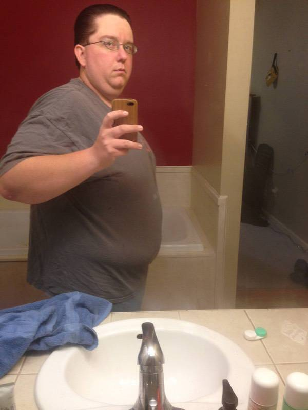 50 lbs Fat Loss Before and After 5 foot 10 Male 336 lbs to 286 lbs