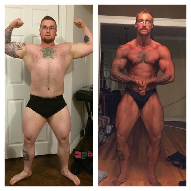 65 lbs Fat Loss Before and After 5 feet 6 Male 240 lbs to 175 lbs