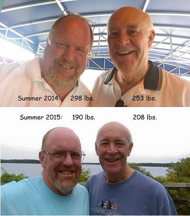 45 lbs Weight Loss Before and After 6 foot 2 Male 253 lbs to 208 lbs