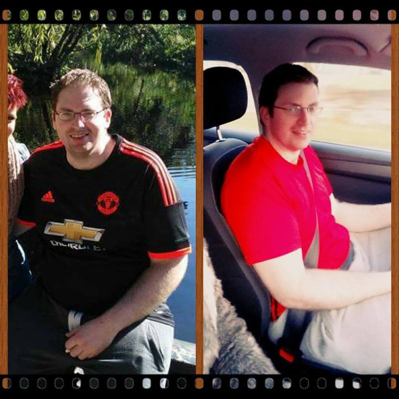 34 lbs Fat Loss Before and After 6 foot Male 270 lbs to 236 lbs