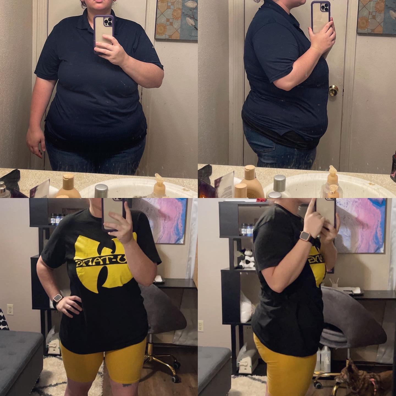 Progress Pics of 77 lbs Fat Loss 5 foot 3 Female 258 lbs to 181 lbs