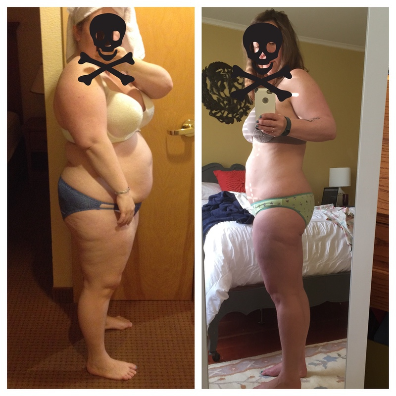 5'2 Female 64 lbs Fat Loss Before and After 234 lbs to 170 lbs