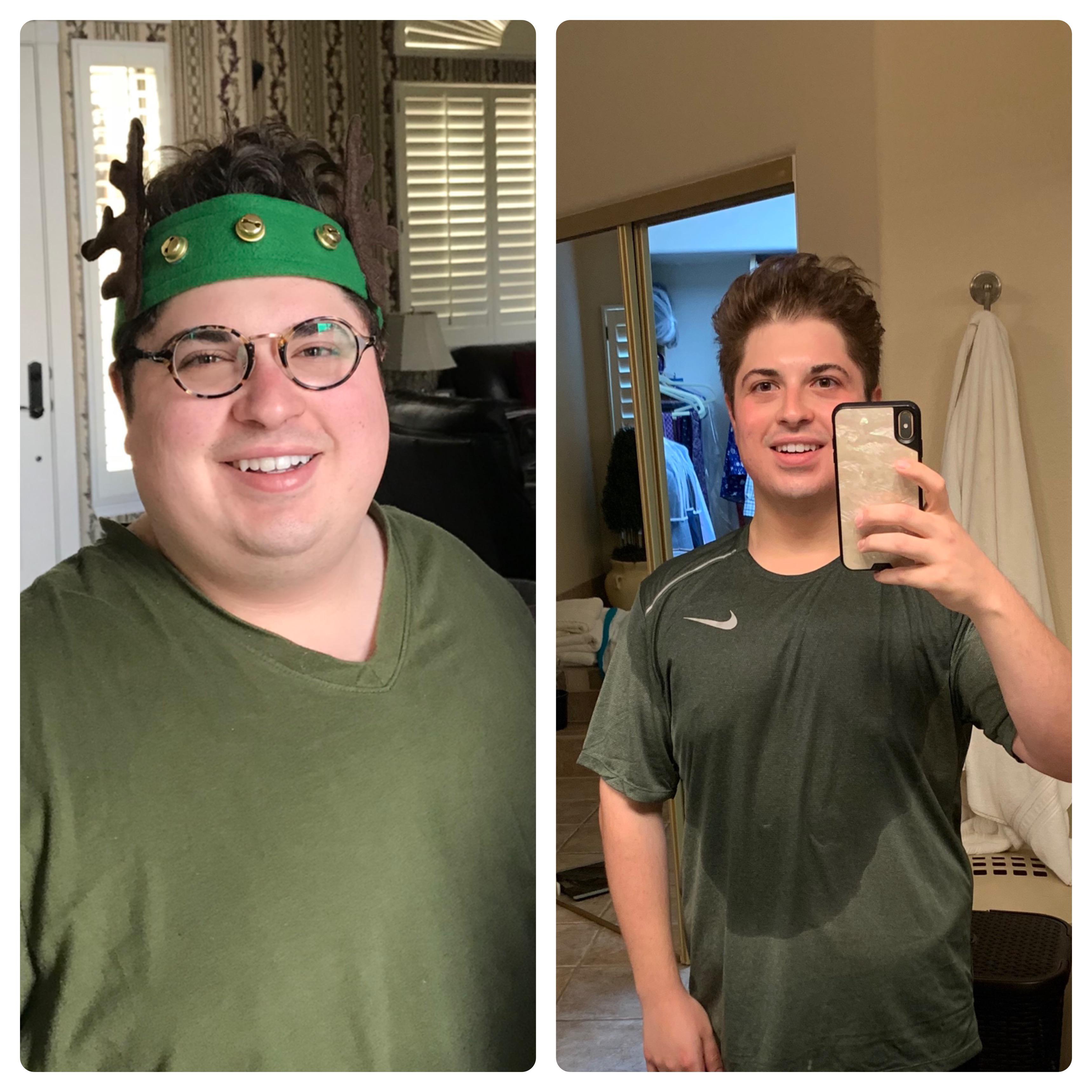 5'4 Male Progress Pics of 100 lbs Fat Loss 270 lbs to 170 lbs