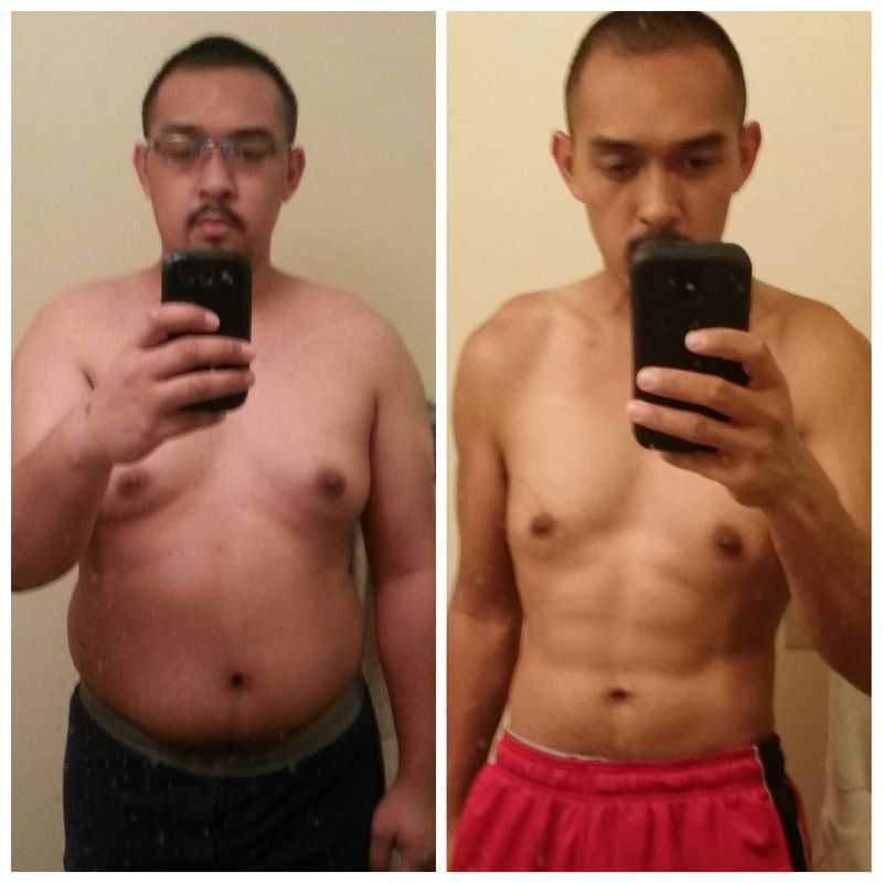 5'10 Male Before and After 80 lbs Weight Loss 255 lbs to 175 lbs