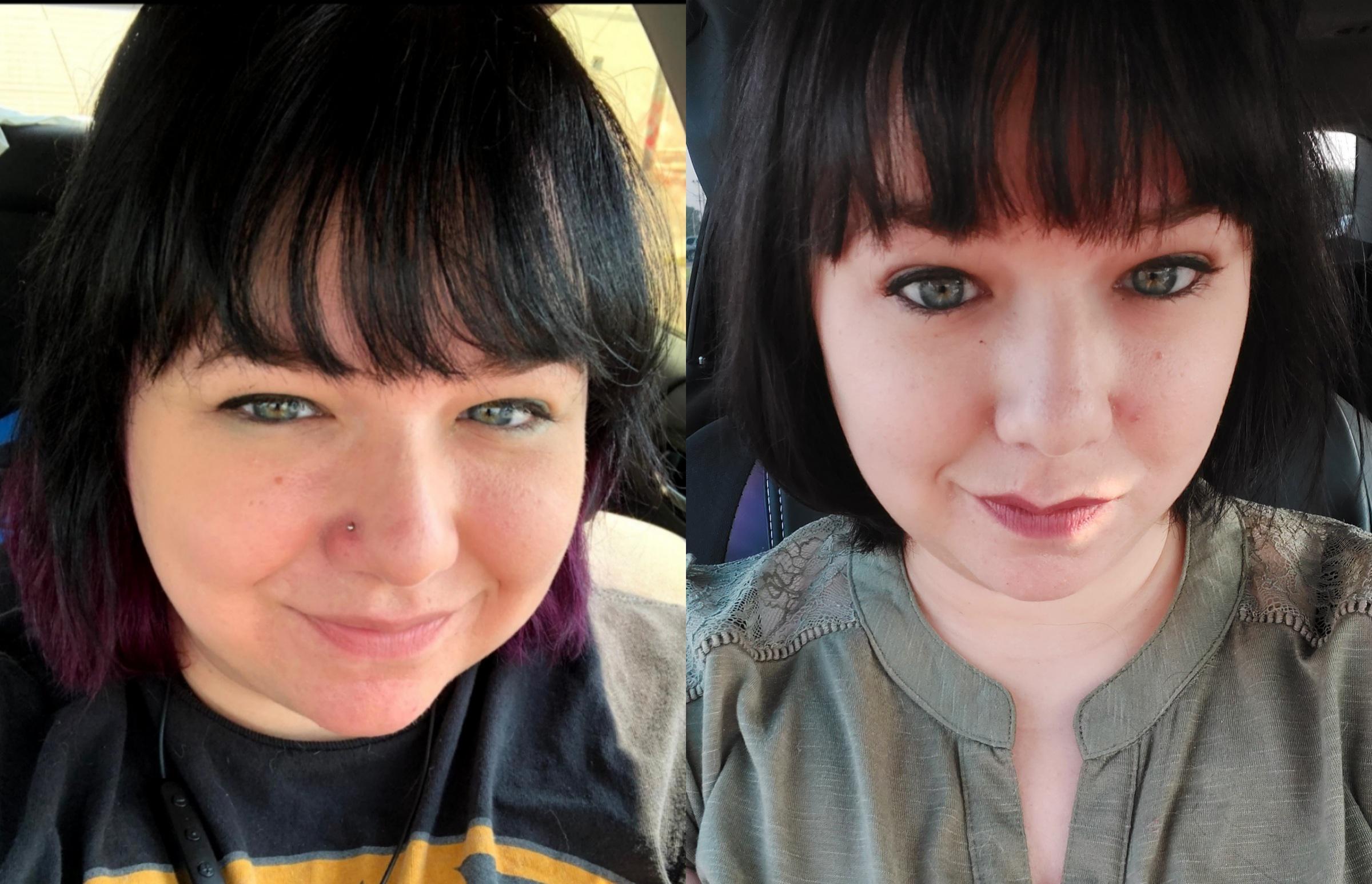 5'3 Female Progress Pics of 41 lbs Weight Loss 217 lbs to 176 lbs
