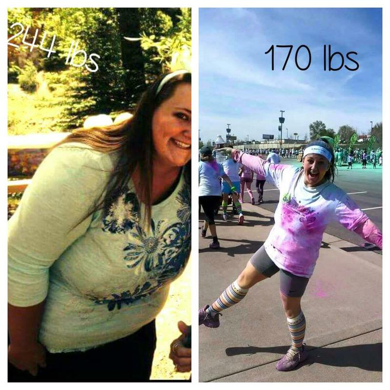 74 lbs Weight Loss Before and After 5'2 Female 244 lbs to 170 lbs