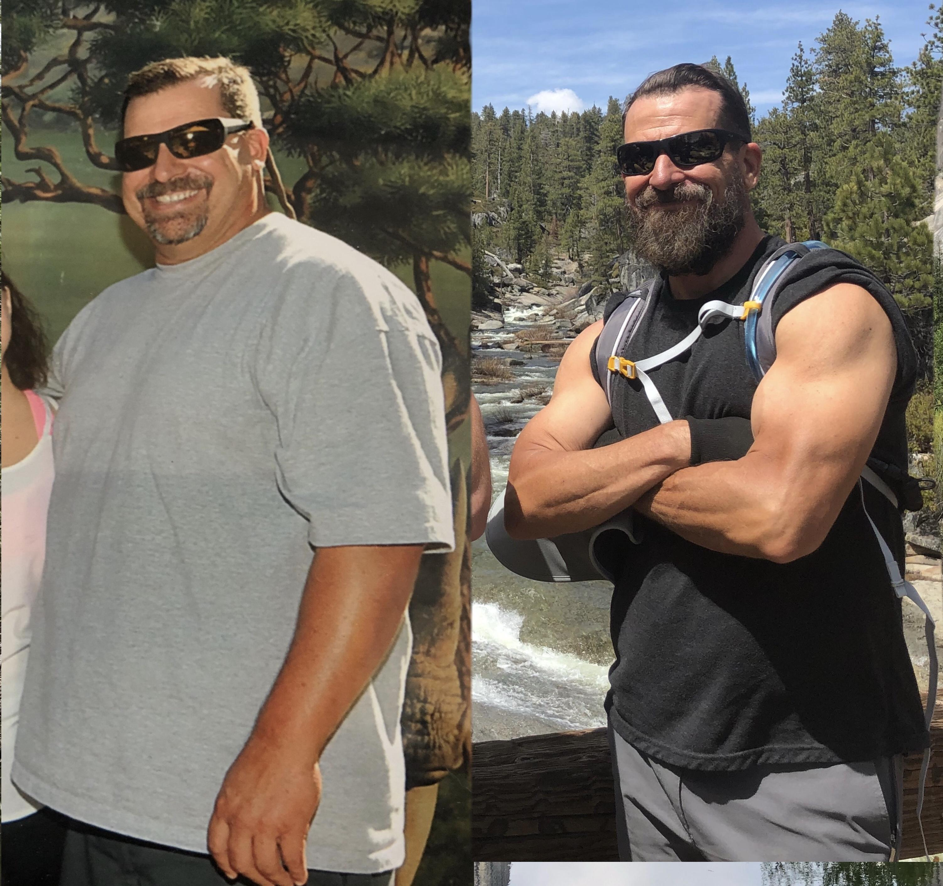 Before and After 93 lbs Weight Loss 6 foot 3 Male 300 lbs to 207 lbs