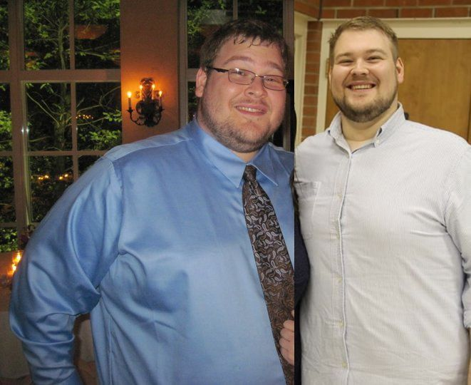 6 foot 4 Male 50 lbs Weight Loss Before and After 390 lbs to 340 lbs