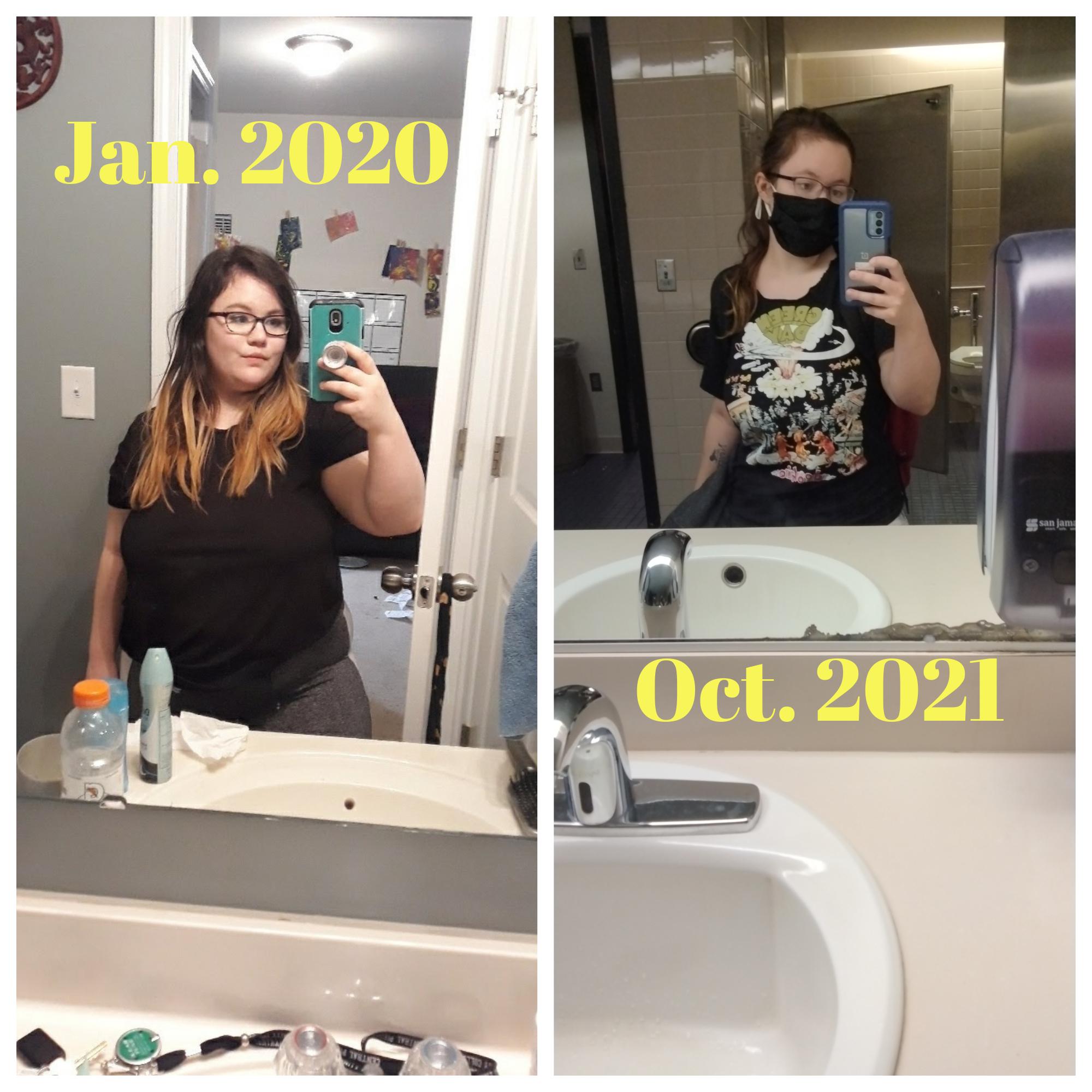 80 lbs Weight Loss 4'11 Female 220 lbs to 140 lbs
