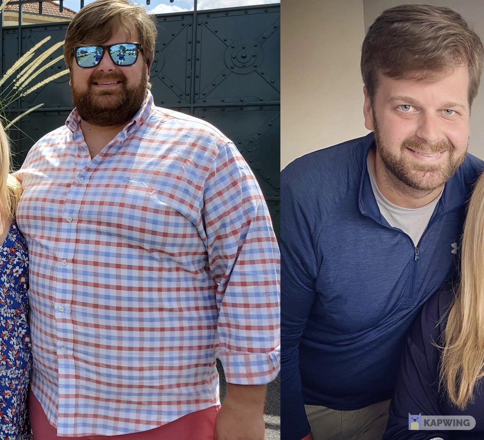 6 foot Male 102 lbs Weight Loss 336 lbs to 234 lbs