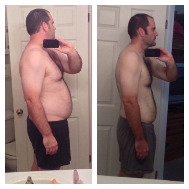 6'3 Male 70 lbs Weight Loss Before and After 297 lbs to 227 lbs