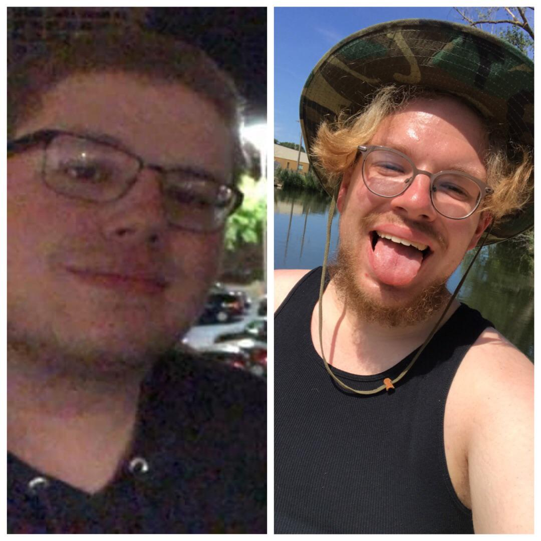 5'11 Male Before and After 102 lbs Fat Loss 345 lbs to 243 lbs