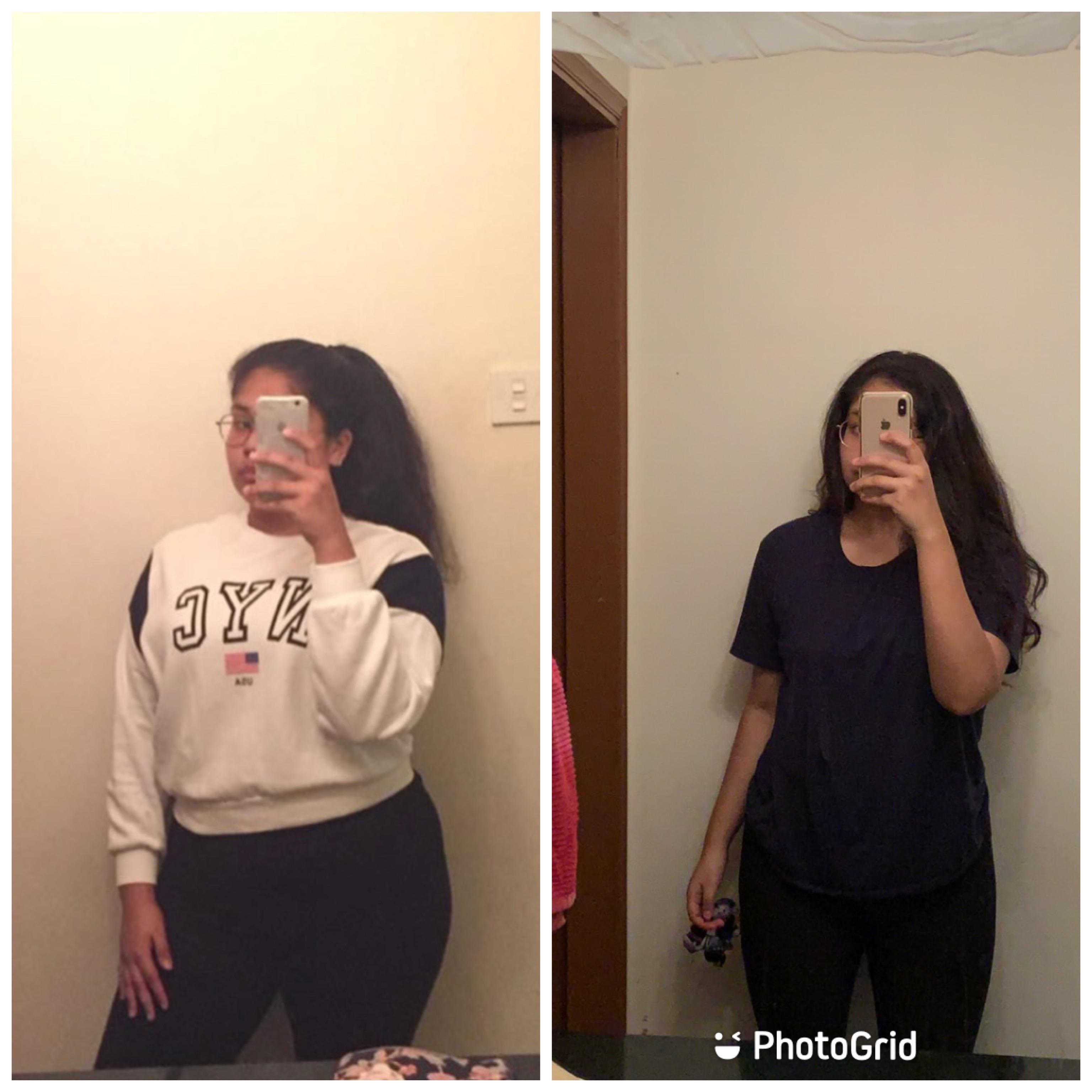 5 foot 6 Female 27 lbs Fat Loss Before and After 209 lbs to 182 lbs