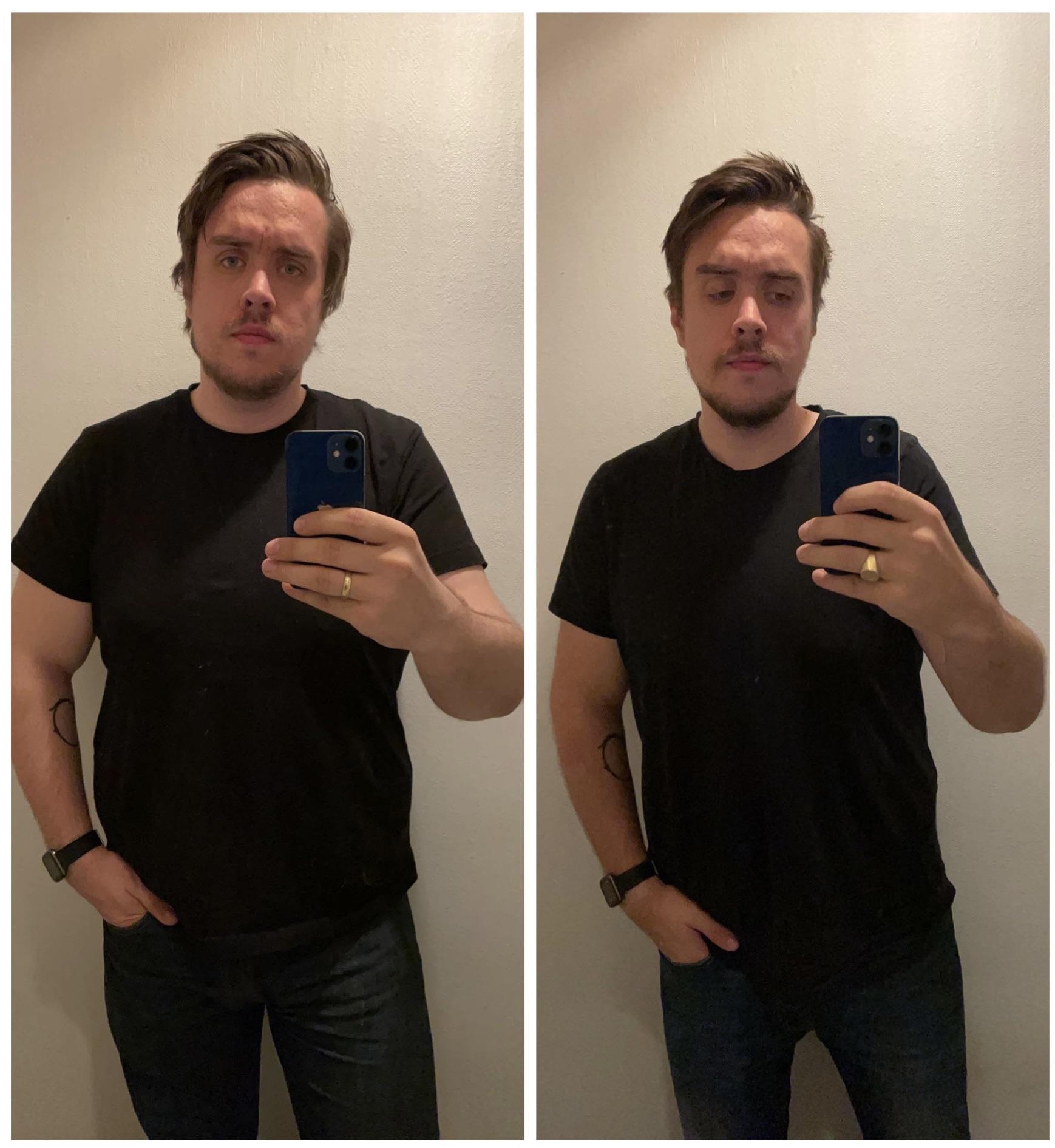 6 foot 1 Male 35 lbs Weight Loss 250 lbs to 215 lbs