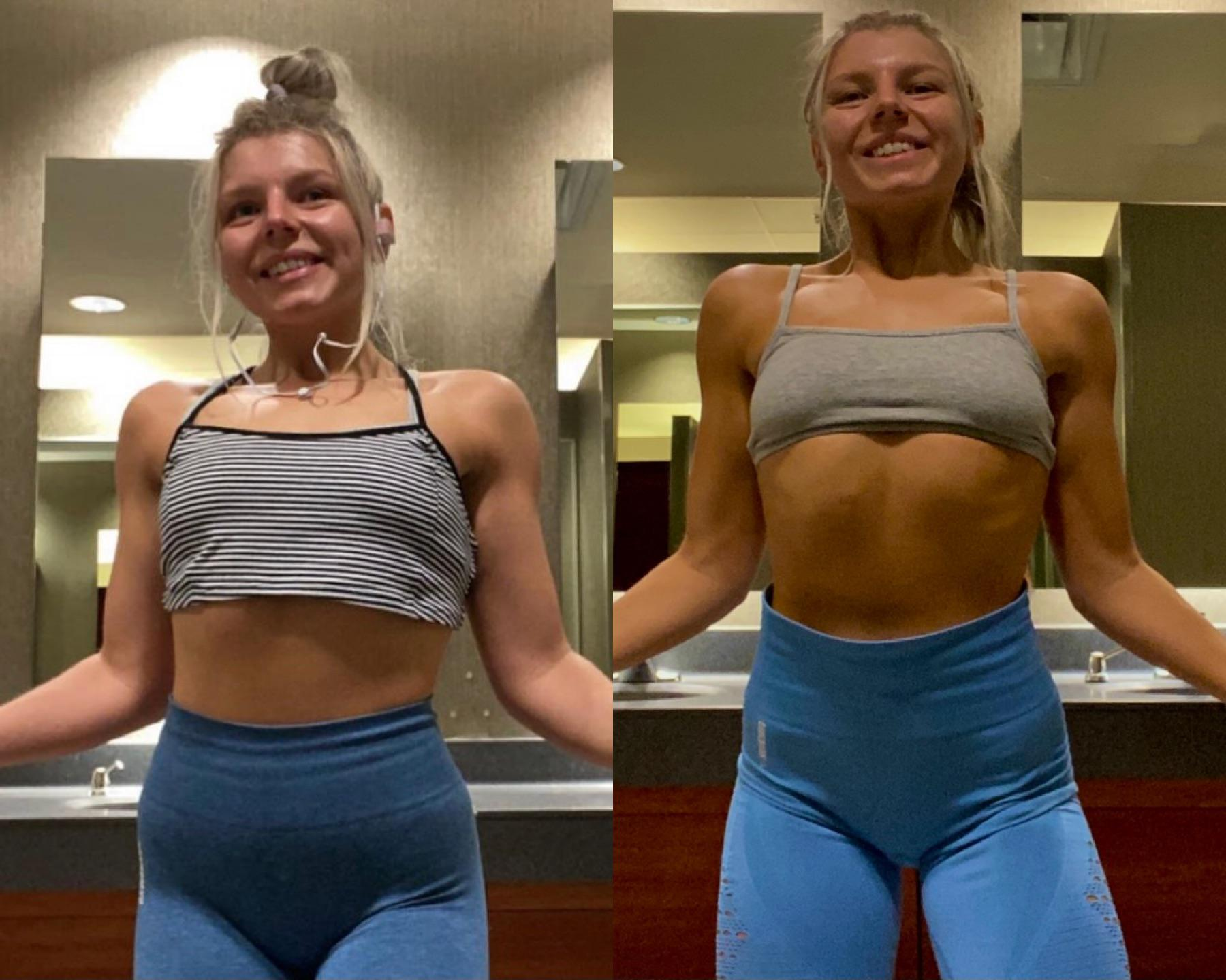 Before and After 7 lbs Weight Loss 5 feet 3 Female 126 lbs to 119 lbs