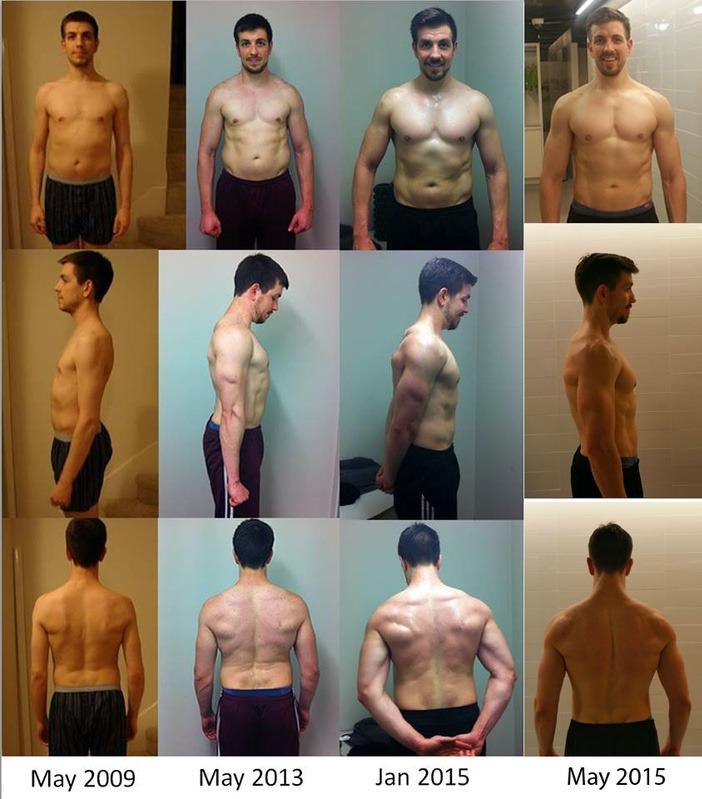 6 feet 2 Male Progress Pics of 45 lbs Muscle Gain 155 lbs to 200 lbs