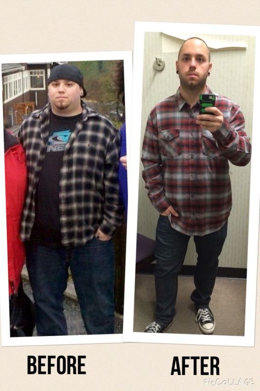 5 feet 7 Male Progress Pics of 93 lbs Weight Loss 292 lbs to 199 lbs
